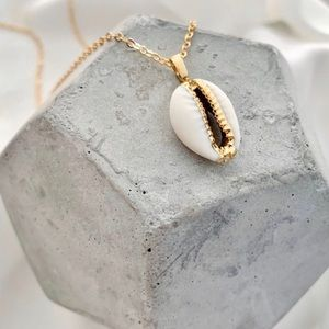 18K GP Real Cowrie Shell Necklace